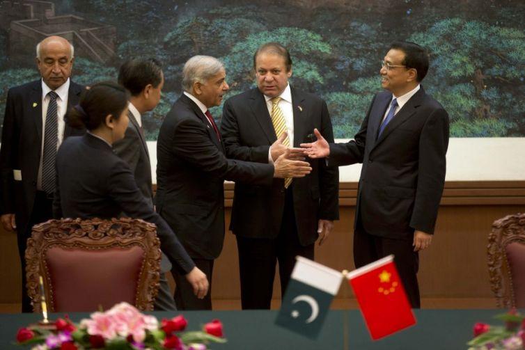 Then-Pakistani Prime Minister Nawaz Sharif